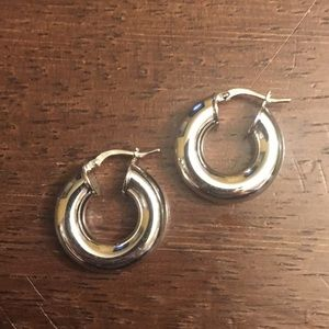 Jewelry - Silver Chunky Hoops